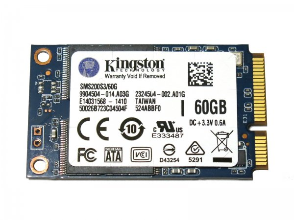キングストン Kingston SSDNow mS200 Drive SMS200S3/60G mSATA 60G SSD 6Gb/s バルク