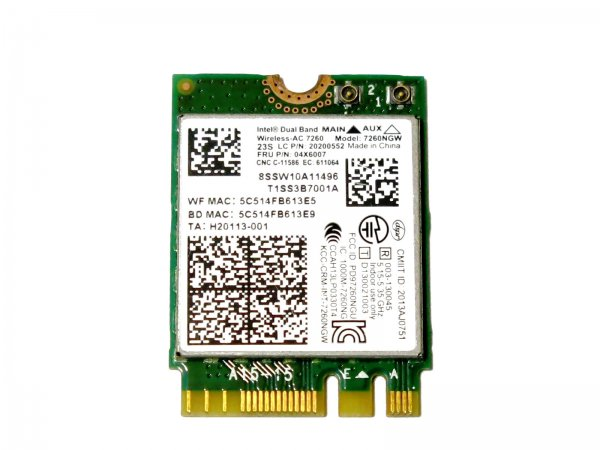 IBM Lenovo Intel Dual Band Wireless-AC 7260 867Mbps+ Bluetooth4.0 7260NGW 04W6009 無線LANカード