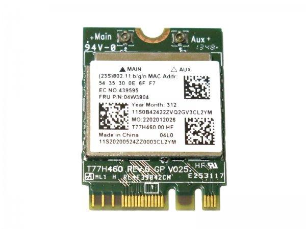 Lenovo純正 04W3804 04W3805 RTL8192EEBT 2×2 802.11b/g/n + Bluetooth4.0 M.2 無線LANカード