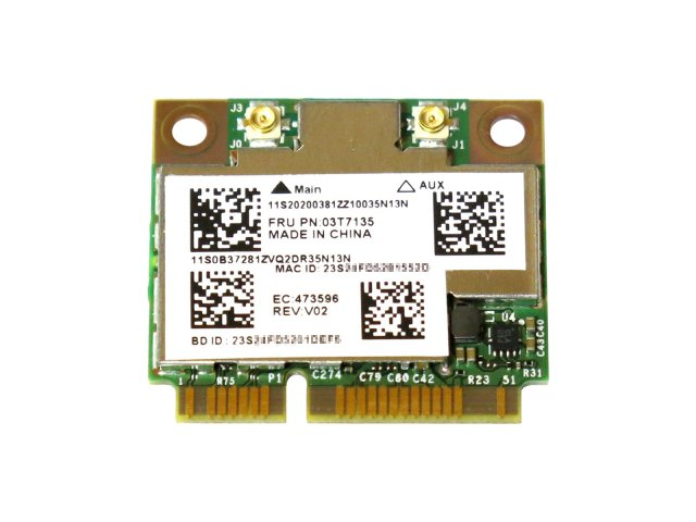 Lenovo 03T7135 Broadcom BCM94352HMB BCM4352 802.11a/b/g/n/ac 867Mbps Bluetooth4.0 無線LANカード