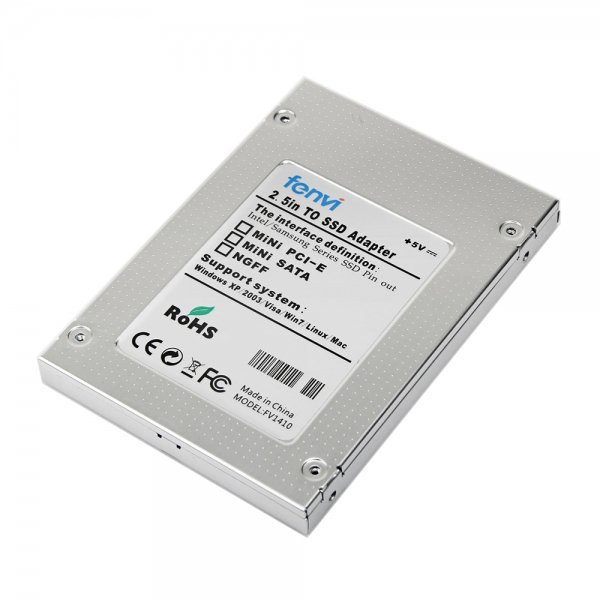 SAISEIYA mSATA SSD to 2.5インチ SATA SSD 変換アルミケース(変換アダプター)
