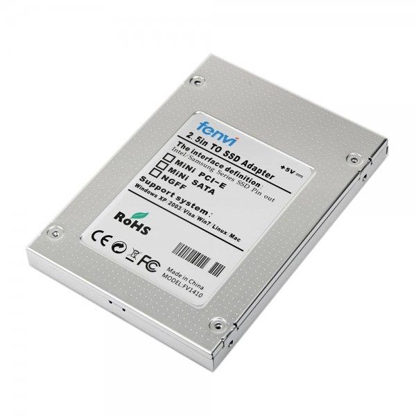 SAISEIYA 1.8インチ micro SATA SSD to 2.5インチ SATA SSD 変換アルミケース(変換アダプター)