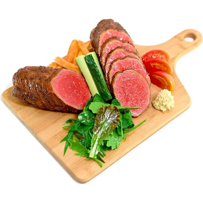 大きなローストビーフ(野菜とフライド...