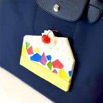 カラフルなショートケーキのバッグ(L)