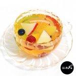 【受注生産】ガラスのカップに入ったフルーツティー(ソーサー付き)