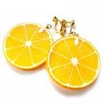 輪切りオレンジのイヤリング