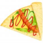 ソーセージ&チーズのデリクレープ