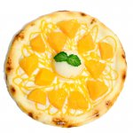 完熟マンゴーとバニラアイスのデザートピザ(ホールサイズ)