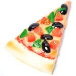 トマト・バジル・黒オリーブのピザ
