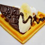 ワッフル(チョコバナナ)