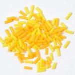 チョコスプレー2色×70粒(イエロー&オレンジ)