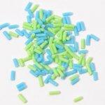 チョコスプレー2色×70粒(グリーン&ブルー)