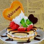 プチパンケーキのウェルカムオブジェ