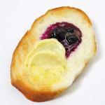 粒入りブルーベリージャム&バターのせフランスパントースト ばら売り1個
