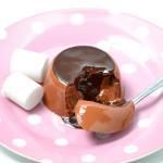 チョコレートババロア マシュマロ付き・スプーンセット
