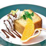 紅茶のパウンドケーキ(オレンジ・クリーム添え)