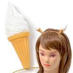 ソフトクリームのカチューシャ