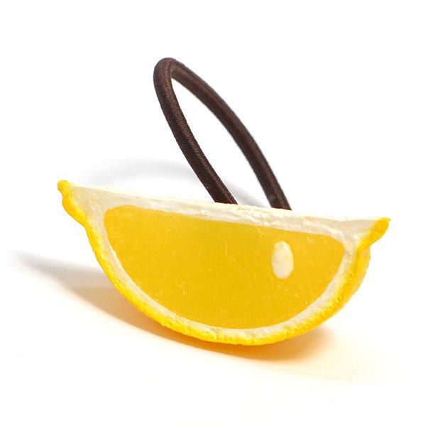 カットレモンのヘアゴム
