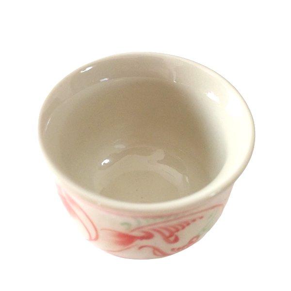 ベトナム バッチャン焼き おちょこ 蓮 ハス (直径約6cm)【画像3】