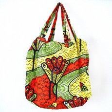 世界に繋がるお買い物 マリ 巾着 エコ バッグ(ニワトリとサカナ)