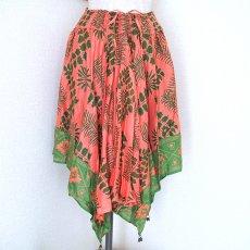 緑・グリーン 雑貨  アフリカン スカート(ピンク)
