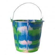 アフリカ プラスチック 雑貨 セネガル プラスチック バケツ(グリーン 10リットル)