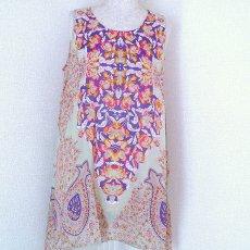 衣料  エスニック 刺繍タンクトップ(ピンク)