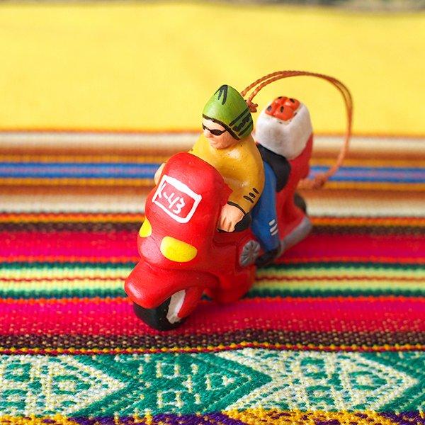 ペルー バイク 素焼き キーホルダー【画像3】