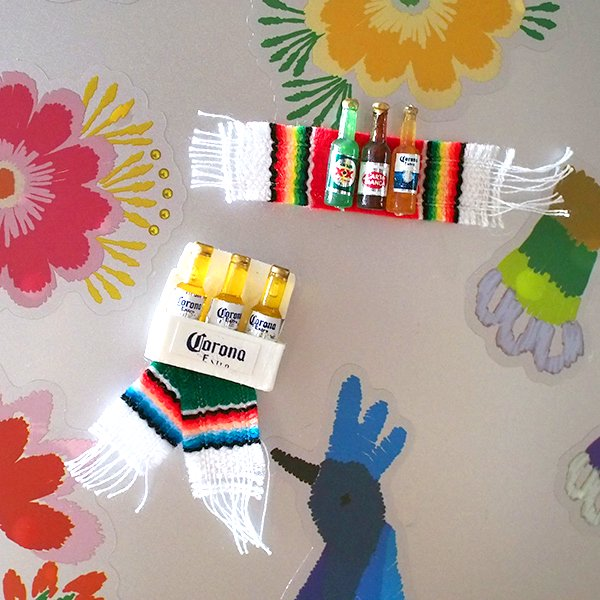 メキシコ ミニCORONAのマグネット(サラペ付き)【画像8】