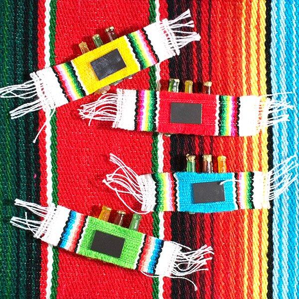 メキシコ ミニミニボトルマグネット(サラペ付き 4色)【画像3】