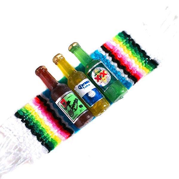 メキシコ ミニミニボトルマグネット(サラペ付き)