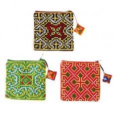 民族の刺繍 ベトナム 少数民族 モン族 刺繍 小銭入れ(コインケース 正方形)