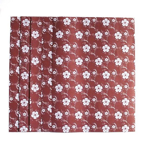 ベトナム ラッピング 包装紙 5枚セット(お花柄B)