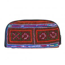 ベトナム 少数民族 モン族 刺繍 長財布(チャック付き A)民族 刺繍 / ベトナム直輸入
