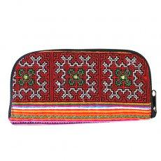 ベトナム 少数民族 モン族 刺繍 長財布(チャック付き B)民族 刺繍 / ベトナム直輸入