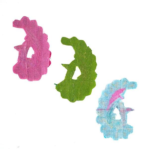 インド 刺繍 ワッペン (ピーコック 孔雀 3色)【画像5】