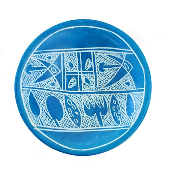 ケニア  ソープストーン 小皿(直径 約8cm)【画像2】