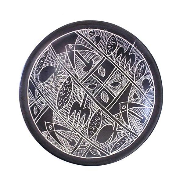 ケニア  ソープストーン 小皿(直径 約10cm)【画像3】