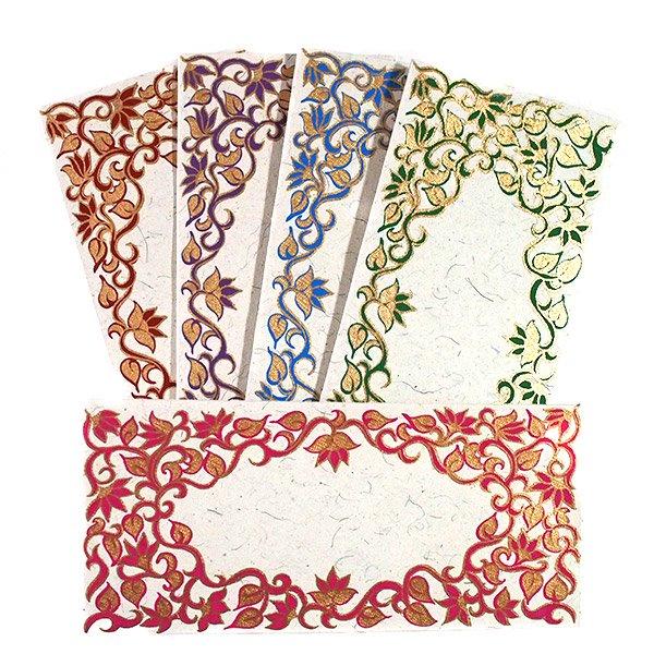 インド お花模様の封筒(5色)