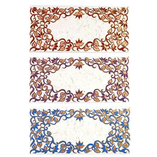 インド お花模様の封筒(5色)【画像2】