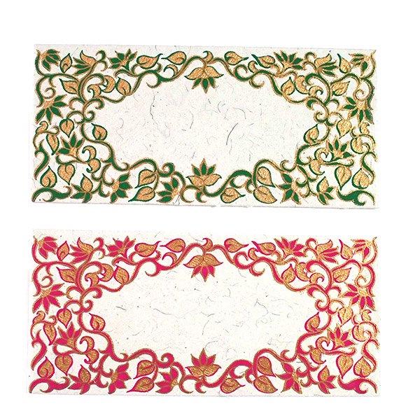 インド お花模様の封筒(5色)【画像3】