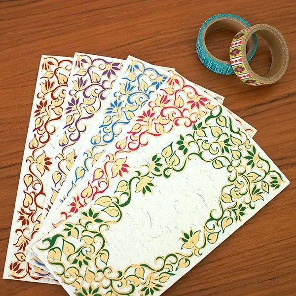 インド お花模様の封筒(5色)【画像7】