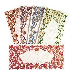 chimanlals 封筒&メッセージカード インド お花模様の封筒(5色)