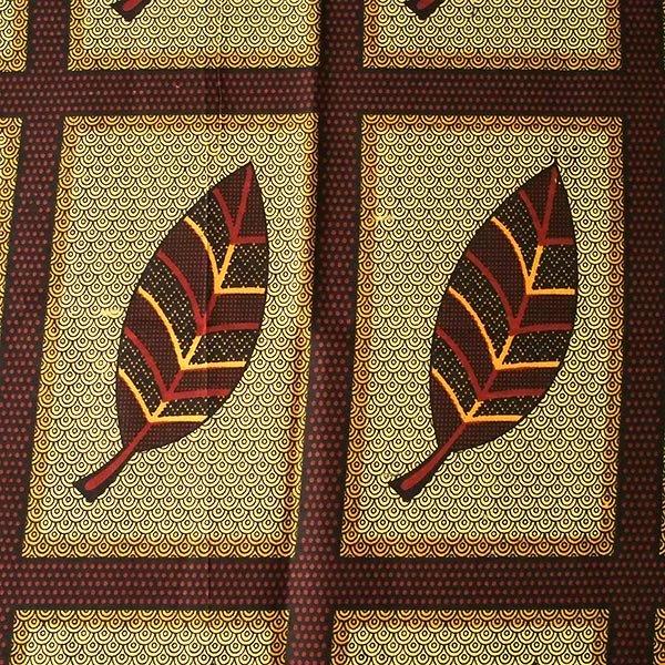 アフリカの布 キテンゲ(アフリカの秋)【画像2】
