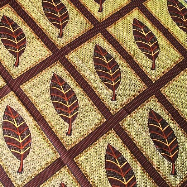 アフリカの布 キテンゲ(アフリカの秋)【画像3】