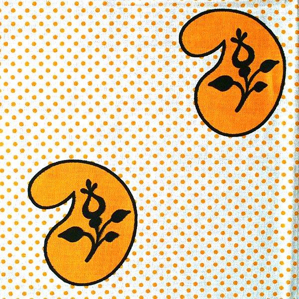 アフリカン プリント布 キテンゲ 105×100 カットオフ(カシューナッツがいっぱい)【画像2】