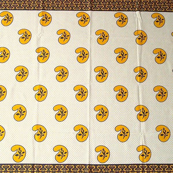 アフリカン プリント布 キテンゲ 105×100 カットオフ(カシューナッツがいっぱい)【画像4】