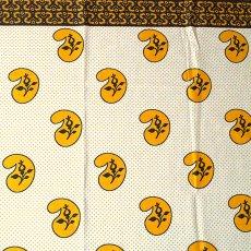 ユニークな柄 アフリカン プリント布 キテンゲ 105×100 カットオフ(カシューナッツがいっぱい)