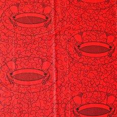 ユニークな柄 アフリカン プリント布 キテンゲ 105×100 カットオフ(粉ふるい)