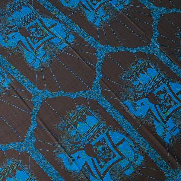 アフリカン プリント布 キテンゲ 105×100 カットオフ(国王の乗り物)【画像2】
